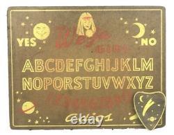 Vtg We-ja Girl Ouija Talking Spirit Board Game Planchette Halloween Scarce Rare
