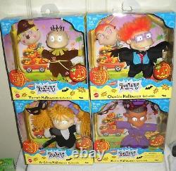 #10173 Rare Nrfb Vintage Mattel Nickelodeon Ensemble De 4 Poupées D'halloween Rugrats