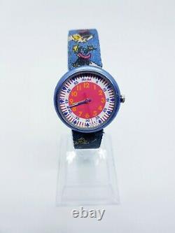 1997 Vintage Witch Broom Halloween Flik Flak Par Swatch Watch, Montres Rares Des Années 90