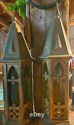 2 Rare Medieval Vintage Thomas Industries Scnces Décor Parfait Pour Halloween