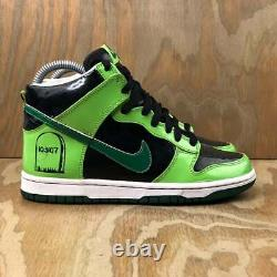 2007 Nike Dunk High Gs Tombstone Neon Green Vintage Rare Halloween Taille 4y