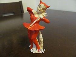 2pc Rare Vintage She Devil Halloween Salt & Pepper Shakers Set Japon