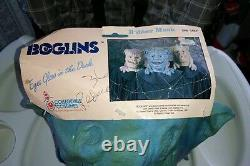 Boglins Halloween Masque! Ultra Rare! 1987! Ancien! Avec La Carte! Vlobb