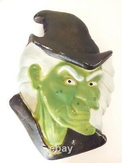 Don Featherstone Blow Mold Halloween, Vieille Tête De Sorcières. Rare Difficile À Fin