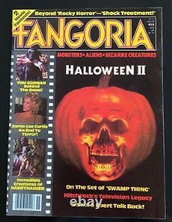 Fangoria Magazine 15 1981 Halloween 2 Jamie Lee C. Rare Vintage Unrd 1er Prt Mt