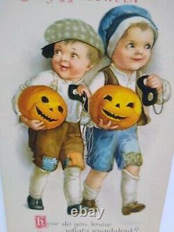 Halloween Carte Postale Ellen Clapsaddle Wolf Series 31 Non Utilisé Original Vintage Rare