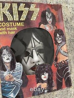 Kiss 1978 Ace Frehley Collegeville Halloween Costume In Box Aucoin Vintage Rare