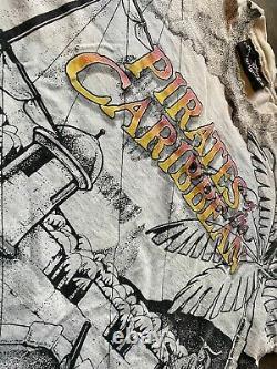 Motif Rare Vtg Disney Pirates Des Caraïbes Double Face Taille XL Graphic