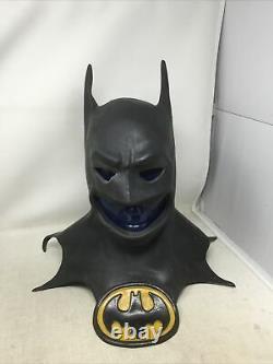 Officiel 1989 Heavy Duty Rubber Batman Halloween Mask Rare DC Comics Vintage