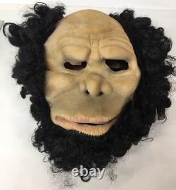 Rare Don Post Studios Neanderthal Cave Man Latex Halloween Mask Vintage 1982