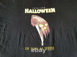 Rare Film D'horreur Vintage Cauchemar Elm Street Vendredi 13 Halloween T-shirt XL