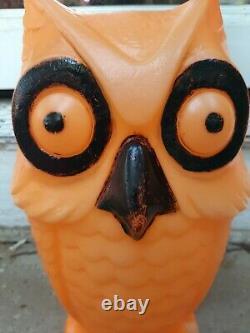 Rare Moule De La Chouette D'halloween Vintage Orange 13,5
