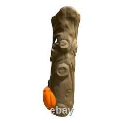 Rare Mousse En Plastique D'halloween À Mousse De Citrouille D'arbre Caoutchouteux