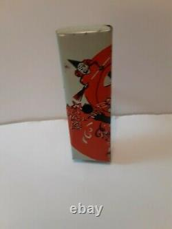 Rare Old Vintage Halloween Tin Noisemaker Cat Witch Jol Bugle Co. 1920's-1940's