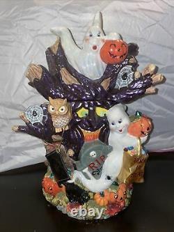 Rare Supérieur! Christopher Radko Hoot N Howl Halloween Cookie Jar Retraité 2002