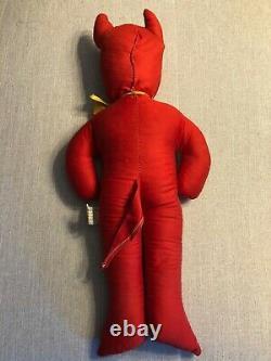 Rare Vintage 1950s Halloween Devil Doll Seldom Vu Article Du Passé L@@@@k