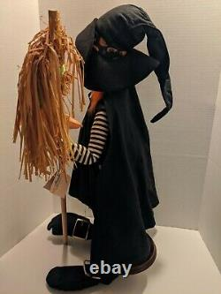 Rare Vintage 1995 Annalee Mobilitee Doll Halloween Witch 30 XL Large Withtags