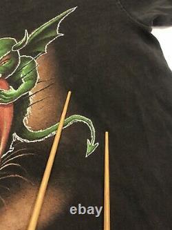 Rare Vintage 1997 Halloween Horror Nights Eye Grabber T-shirt Faded 90s
