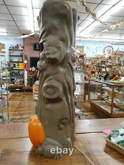 Rare Vintage 35 Spooky Arbre Citrouille Lumière Moule Mousse En Plastique D'halloween