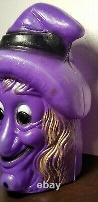 Rare Vintage En Plastique Halloween Witch Candy Porte-conteneur Seau Moule