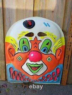 Rare Vintage Giant 19 1/2 X 24 Exposition De Magasin De Masques D'halloween