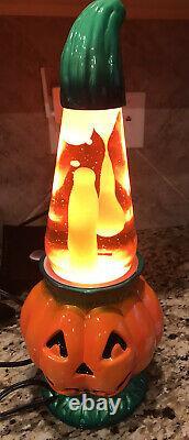 Rare Vintage Halloween Citrouille Lava Lamp New Box Inutilisé Complet