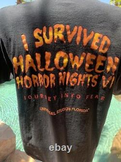 Rare Vintage Halloween Horroor Nights VI 1996 Universal Studios Chemise En Taille XXL