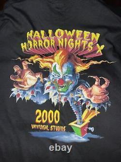 Rare Vintage Halloween Horror Nights 2000 Universal Studios Chemise En Taille XXL