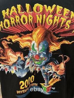 Rare Vintage Halloween Horror Nights 2000 Universal Studios Shirt En Taille XXL
