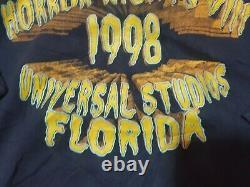 Rare Vintage Halloween Horror Nights VIII 1998 Sweatshirt Universal Studios Années 90