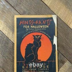 Rare, Vintage Hints & Hants For Halloween Book Années 1930