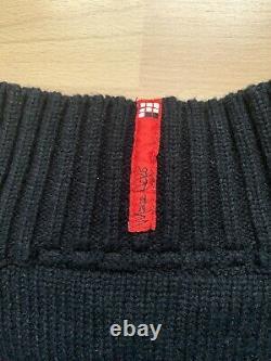 Rare Vintage Marvel Ecko Punisher Sweater Jumper Tricoté À Manches Longues Coude Patch