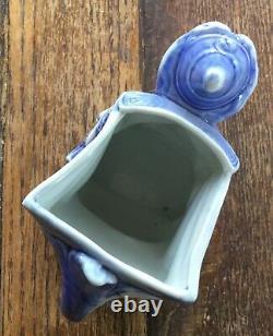 Rare Vintage Porcelain Witch Schafer & Vater Pitcher Creamer Allemagne Halloween