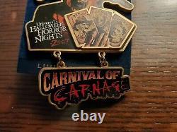 Rare Vintage Universal Studios Halloween Horror Nights Carnival Of Carnage Pin