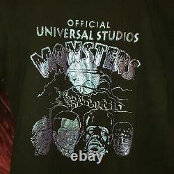 Rare Vintage Universal Studios Halloween Horror Nights Monsters T-shirt. Taille M