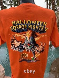 Rare Vintage Universal Studios Hhn Halloween Horror Nights 2000 T-shirt Grand
