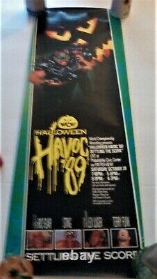 Rare Vintage Wcw Halloween Havoc 89 Régler Le Score, Flair, Sting, Lugar