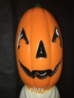 Rare Vtg 36 Bâton Citrouille Ghost Blow Moule Halloween Boo