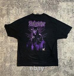 Rare Vtg Années 90 Wwf Undertaker Fear The Darkness Wrestling Shirt Wwe Ecw Wcw Mal