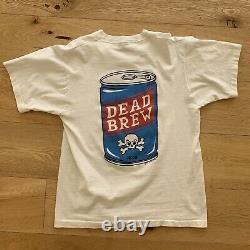 Rayons! T-shirt Vintage À Point Unique Dead Brew Taille Grande Taille 27 X 19 1/2