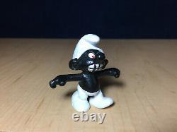 Schtroumpfs 20007 Angry Schtroumpf Black Teeth Vintage Figure Rare Schleich Peyo Figurine