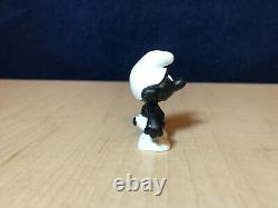 Schtroumpfs 20007 Black Angry Schtroumpf Figure Rare Red Teeth & Eyes Vintage Toy Figurine