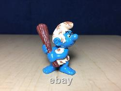 Schtroumpfs 20427 Cave Homme Schtroumpf Wood Club Rare Vintage Figurine De Jouet En Pvc Peyo