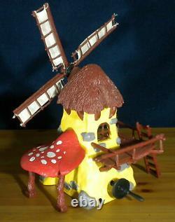 Schtroumpfs 49020 Schtroumpf Windmill Rare Jaune Playset Vintage Toy Lot Schleich Allemagne