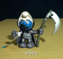Schtroumpfs Grim Reaper Schtroumpf D'halloween 20545 Figurine Rare Schleich Vieux Jouet Pvc