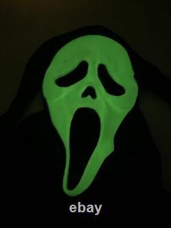 Scream Ghostface Masque Fun World DIV Rare Glow In Dark Vintage Htf Avec Robe & Ceinture