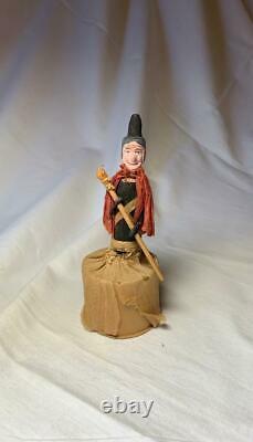 Sorcière Halloween Candy Conteneur Antique C1930 Rare Nippon Paper Machette Crepe