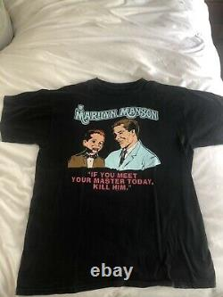 Très Rare Og Marilyn Manson Meet Your Master Shirt Vintage Nin Goth Wonderland