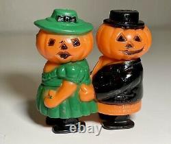 Très Rare Vintage Fun World Halloween En Plastique Dur Citrouille Jol Ramp Walker Jouet