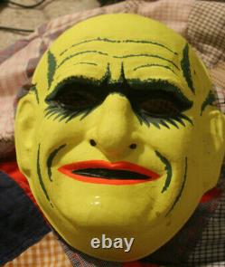 Very Rare Vintage Ben Cooper Oncle Fester Masque D'halloween Grande Condition
